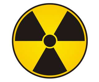 NUCLEAR RADIATION Sticker Warning NUKE Bio Hazard Zombie Vinyl Decal A
