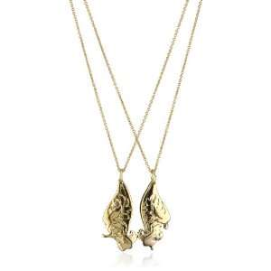 Jules Smith BFF Wing 14k Gold Plated Pendent Necklace, 18 Jewelry