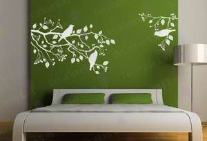 Tree Branch Bird Removable Vinyl Wall Decal Sticker