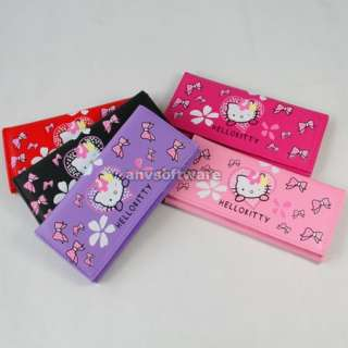 New HelloKitty Bowknot Girls Wallet Clutch Card Bag Purse Birthday