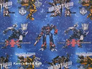Transformers Boys Bumblebee Megatron Optimus Prime Blue Curtain