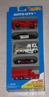 Mattel 1995 HOT WHEELS 5 car GIFT PACK AUTO CITY MIB