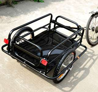 New large bicycle bike cargo trailer luggage cart carrier w/4