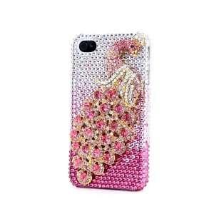 Pink Luxury Peacock Bling Full Crystal Diamond Hard Case