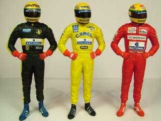 Decal 143 Ayrton Senna Lotus Renault McLaren Honda f1 Figure Helmet