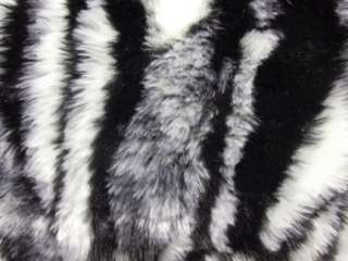 CF73 TIGER FAUX FUR SKIN PILLOW CUSHION COVER*CUSTOM SZ