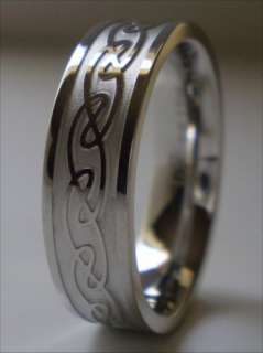 Celtic Knot Ring Stainless Steel Band Size 7.5 Unisex