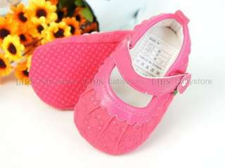 A226 new baby toddler girl pink mary jane shoes size 2 4 5