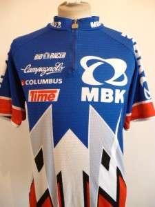 COLUMBUS MBK BIO RACER VINTAGE RETRO BIKING SPORTS CYCLING JERSEY TOP