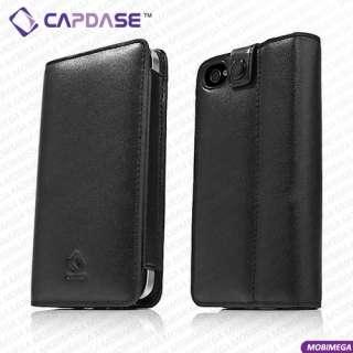 Bi Fold Folio Slim Genuine Leather Book Case Cover w Stand iPhone 4 4S