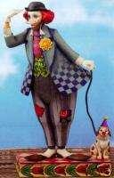 JIM SHORE *Clowns Best Friend* CLOWN WITH HIS DOG