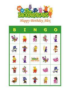Backyardigans Nick Jr. Personalized Birthday Party Game Bingo Cards