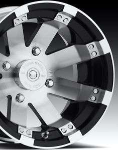 12 12x8 4x4 Alum Golf Cart Rims Wheel 2 Backspace