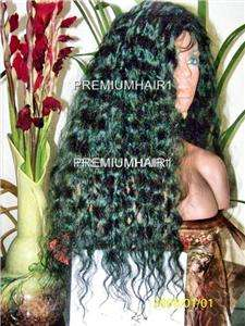 Custom Hand Made Full Lace Human Hair Malaysian Remy #1 28/34 Curly