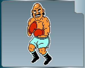 BALD BULL #2 Punch Out vinyl decal car & iPhone sticker