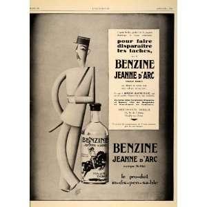 1929 French Ad Benzine Jeanne dArc Garretto Art Deco