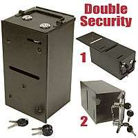 Metal Money Toke Box with Dual Lock (For Tables)   NEW