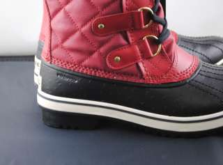 Sorel Women Tofino Waterproof Snow Winter Boot Chili Pepper Red Black