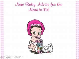 Baby Betty Boop Baby Shower Advice Cards Supplies Favor