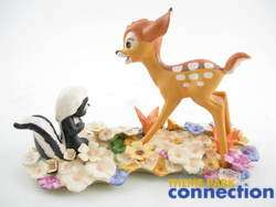 Disney WDCC LE 10000 Bambi & Flower He Can Call Me If He Wants To
