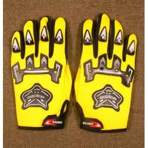 Motorbike Motorcycle Racing Cycling Bicycle bike Sport Gloves Yellow