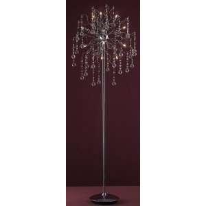 Bethel Ka115   9 Light Clear Crystal Floor Lamp