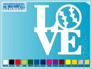 LOVE BASEBALL SOFTBALL cut vinyl decal iPhone sticker