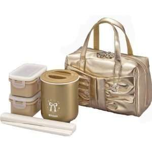 Japanese Lunch Box Set Tiger Lunch thermos GOLD LWY LA24NL