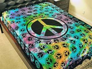 PEACE SIGN TAPESTRY / WALL HANGING (TIE DYE)   72X108 TP42TD