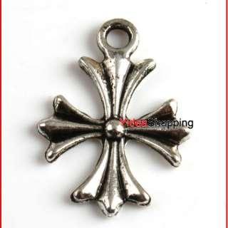 10x Tibetan Silver Cross Charms Pendant Beads 10 Styles