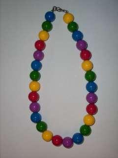 Vintage Bubble Gum Choker, Necklace, Multi Colored