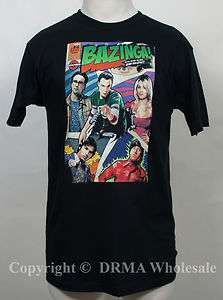 Authentic THE BIG BANG THEORY Bazinga Comic Book Cover T Shirt S M L
