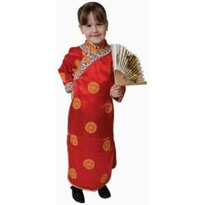 Pretend Deluxe Chinese Geisha Girl Child Costume Dress Up Set Size 16