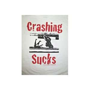 Dangerous Designs Crashing Sucks T shirt X Large Automotive