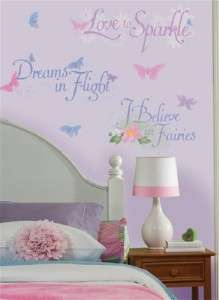 DISNEY FAIRIES QUOTES Wall Decals Girl Stickers Decor 034878034959
