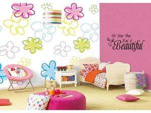 BE YOUR OWN KIND OF BEAUTIFUL Girls Room Wall Decal 36