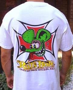White Rats Hole Red Iron Cross Big Daddy Rat Logo