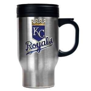 Kansas City Royals MLB Stainless Steel Travel Mug   Primary Logo