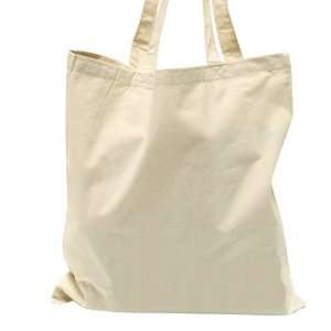 Cotton Canvas Lightweight Economy Tote Bag   Natural White, No Gusset