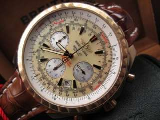 Mens Breitling Bentley Motors T Chronograph 18kt Gold Ref H25363 MOP