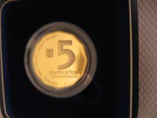 ISRAEL 1986 AKKO SITES IN HOLY LAND 1/4oz FINE GOLD PROOF COIN