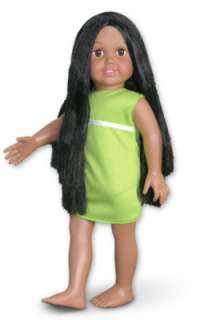 DOLL SOFIA Hispanic Long Black Hair Brown Eyes 4 Crochet +