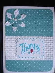 Handmade Thanks Thank You Card Stampin Up Cuttlebug