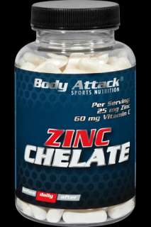 Body Attack Zinc Chelat   100 Kapseln