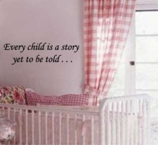 Story Yet To Be Told Vinyl Quote Wall Art Decal Nursery Decor