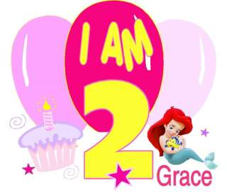 DISNEY BABY ARIEL BIRTHDAY PARTY T SHIRT DESIGN DECAL