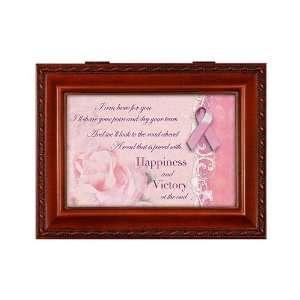 Breast Cancer Pink Ribbon Awareness Music Box Plays