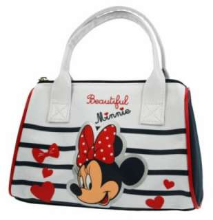 Disney Minnie Mouse Stripe School Hand Bag Brand New Gift