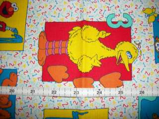 Sesame Street Elmo, Cookie, Big Bird 123 Cotton Fabric Quilt Curtains