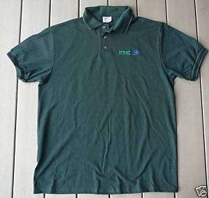 Short sleeve teal green polo shirt GREATWIDE Men L NEW